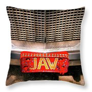 Front Of The Car - Grill And Plate Throw Pillow