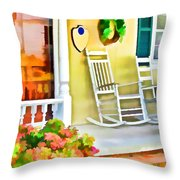 Front Porch 2 Throw Pillow