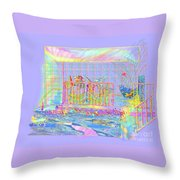 Front Porch At Sunrise Throw Pillow