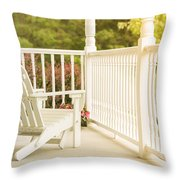 Front Porch In Summer Throw Pillow