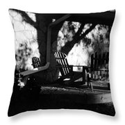 Front Porch Throw Pillow by Michael Ringwalt