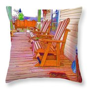 Front Porch On An Old Country House  1 Throw Pillow
