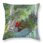 Front Porch View Throw Pillow
