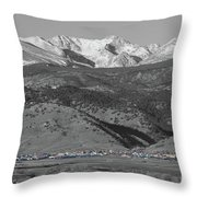 Front Range View North Boulder Colorado Throw Pillow