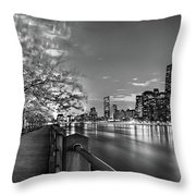 Front Row Roosevelt Island Throw Pillow