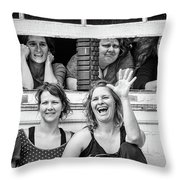 Front Row Spectators Throw Pillow