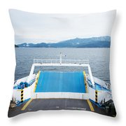 Front Side Of A Ferry  Throw Pillow