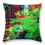 Front Stoop Throw Pillow