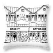 Front Street, Morro Bay Throw Pillow
