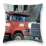 Front Of A Ford 9000 Powerhouse Throw Pillow