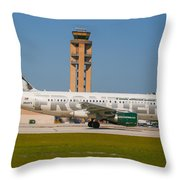 Frontier Airline Throw Pillow
