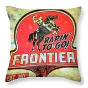 Frontier Gas Throw Pillow