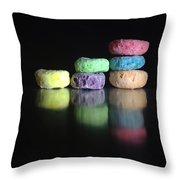 Froot Loops Throw Pillow