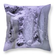 Frost Art Throw Pillow