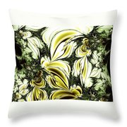 Frost Damage Throw Pillow