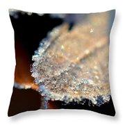 Frost Diamonds Throw Pillow