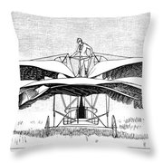 Frost Flying Machine, 1891 Throw Pillow