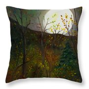 Frost Moon Throw Pillow