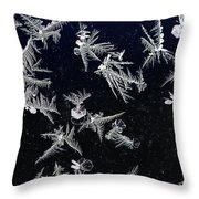 Frost On Car Window 4 Throw Pillow by Roger Snyder