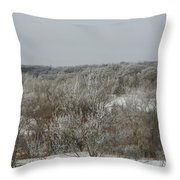 Frost On The Trees Throw Pillow