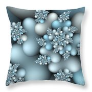 Frost Patterns Throw Pillow