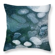 Frosted Bubbles Throw Pillow