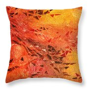 Frosted Fire I Throw Pillow