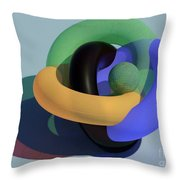Frosted Glass Toruses Throw Pillow