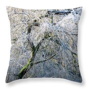 Frosted Limbs Throw Pillow