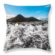 Frosted Over Hinterland Throw Pillow