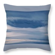 Frosted San Luis Valley - Colorado Throw Pillow