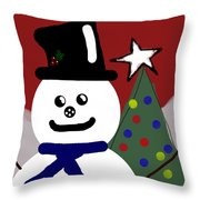 Frosty Throw Pillow