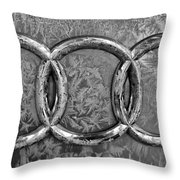 Frosty Audi Throw Pillow