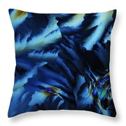 Frosty Blues Throw Pillow