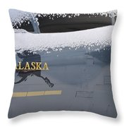 Frosty Canopy Throw Pillow