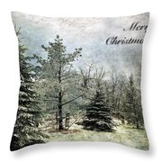 Frosty Christmas Card Throw Pillow