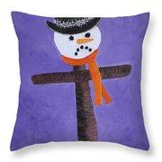 Frosty Cross Throw Pillow