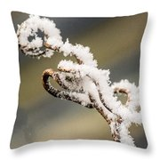 Frosty Curlique With A Twist Throw Pillow