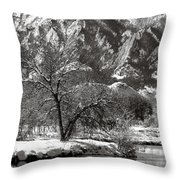 Frosty Flatirons 2 Throw Pillow