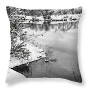 Frosty Flatirons Throw Pillow