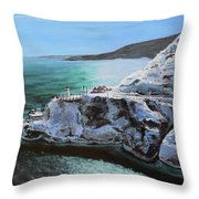 Frosty Fort Amherst Throw Pillow