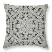 Frosty Lace Doily Throw Pillow