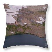 Frosty Lake Throw Pillow
