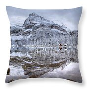 Frosty Morning In Pano Throw Pillow