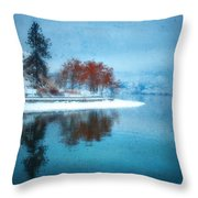 Frosty Reflection Throw Pillow
