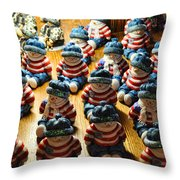Frosty's Drone Army Throw Pillow
