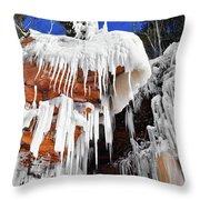 Frozen Apostle Islands National Lakeshore Throw Pillow