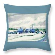 Frozen Aqua Throw Pillow