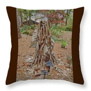 Frozen Banana Tree In Colored Pencil Throw Pillow