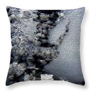 Frozen Blue 2 Throw Pillow